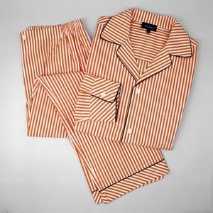 Orange Stripe Pajama Set
