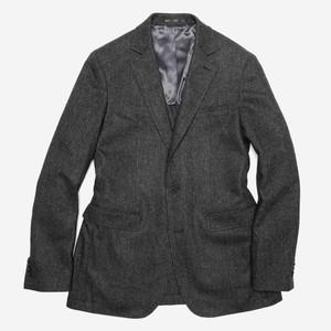 The Wool Miracle Herringbone Charcoal Jacket