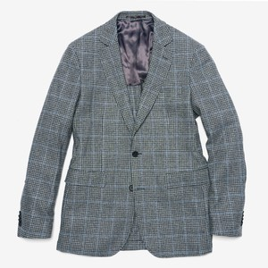 The Wool Miracle Houndstooth Plaid Grey Jacket