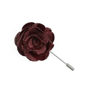 Meter Stripe Raspberry Lapel Flower