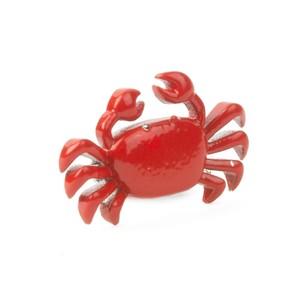 Boston Crab Silver Lapel Pin