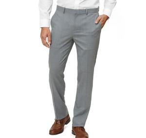 Solid Wool Light Grey Dress Pants