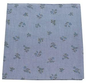 Calico Chambray Soft Blue Pocket Square