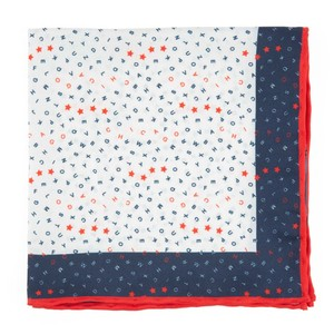 The City Square - Chicago Navy Pocket Square