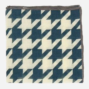 Oversized Houndstooth Charcoal Pocket Square