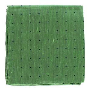 Bulletin Dot Kelly Green Pocket Square