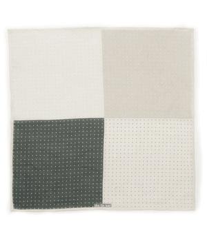 Revolution Dots Grey Pocket Square