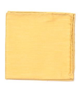 Sand Wash Solid Mustard Pocket Square