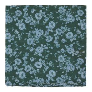 Linen Buds Hunter Green Pocket Square