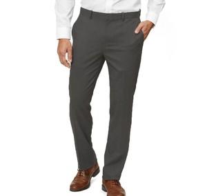 Solid Wool Grey Dress Pants