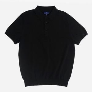 Solid Cotton Sweater Black Polo
