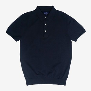 Solid Cotton Sweater Navy Polo