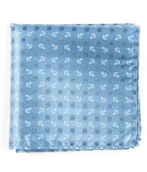 Offshore Light Blue Pocket Square