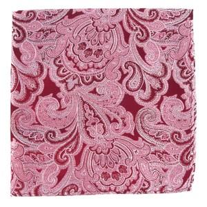 Designer Paisley Burgundy Pocket Square