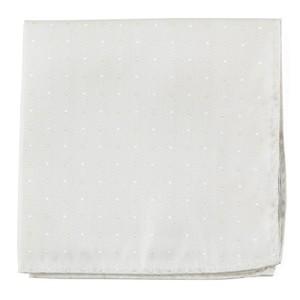 Suited Polka Dots Ivory Pocket Square