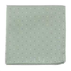 Suited Polka Dots Sage Green Pocket Square