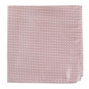 Mini Dots Mauve Stone Pocket Square