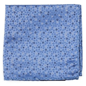 Flower Fields Light Blue Pocket Square