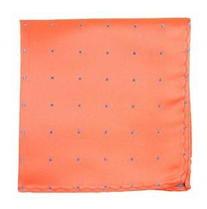 Satin Dot Coral Pocket Square