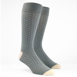 Mumu Weddings - Seaside Dot Silver Sage Dress Socks