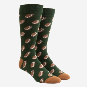 Fall Football Hunter Green Dress Socks