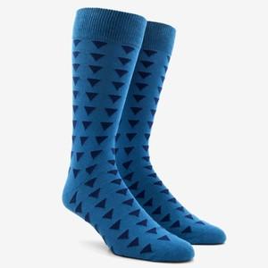 Triangle Geo Peacock Green Dress Socks