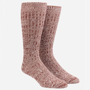 Camp Burgundy Dress Socks