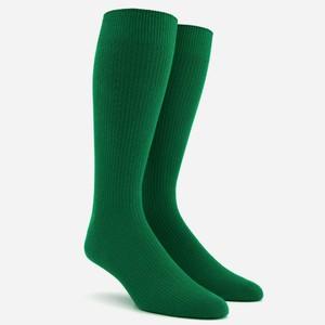 Ribbed Green Dress Socks