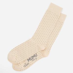 Mumu Weddings - Seaside Dot Champagne Socks