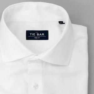 Herringbone - French Cuff White Non-Iron Dress Shirt