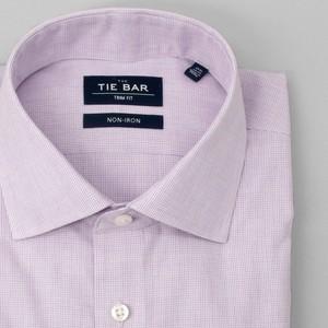 Petite Houndstooth Lavender Non-Iron Dress Shirt