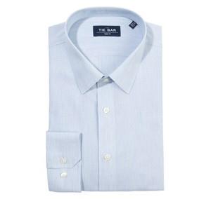 Heathered Chambray Dobby Blue Non-Iron Dress Shirt