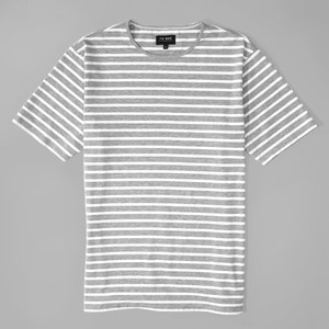 Tailored Striped Grey T-Shirt