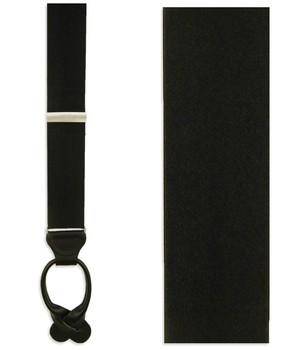 Solid Satin Black Suspender
