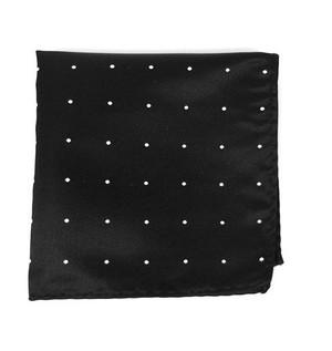 Satin Dot Black Pocket Square