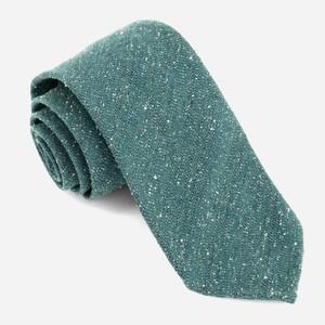 Unlined Textured Solid Hunter Green Tie