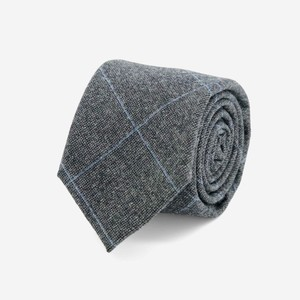 Barberis Wool Tutto Charcoal Tie