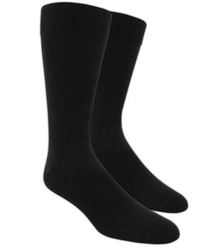 Solid Black Dress Socks