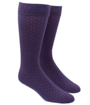 Speckled Eggplant Dress Socks