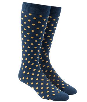 Circuit Dots Gold Dress Socks