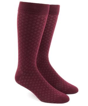 Speckled Burgundy Dress Socks
