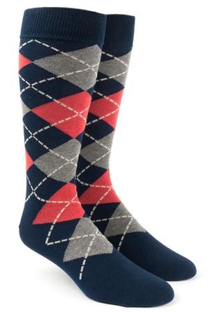 Argyle Melon Dress Socks
