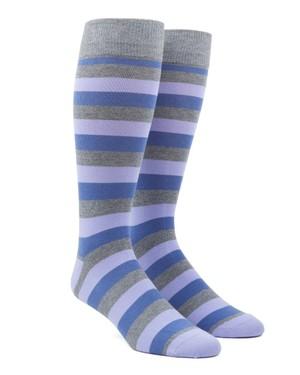 Varios Stripe Lavender Dress Socks