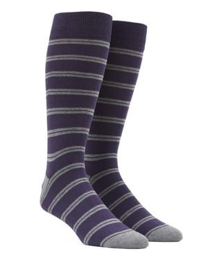Center Field Stripe Purple Dress Socks