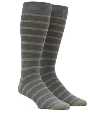 Trad Stripe Sage Green Dress Socks