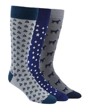 The Novelty Sock Pack Navy Dress Socks
