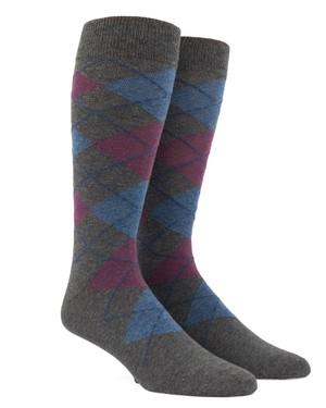 Argyle Azalea Dress Socks