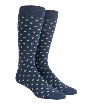 Band Of Hearts Sage Dress Socks