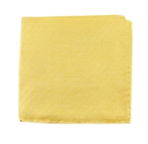 Solid Linen Butter Gold Pocket Square