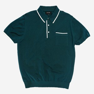 Tipped Cotton Sweater Peacock Green Polo